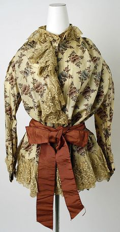 French dressing gown ca. 1888