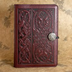 Celtic Hounds Moleskine Leather Journal Covers with Pewter Clasp by Oberon design.