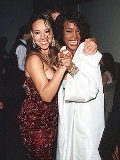 Whitney Houston and Mariah Carey.