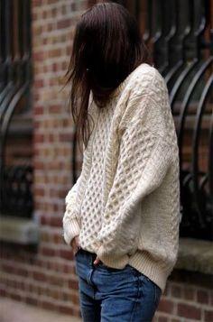 chunky oversize sweater