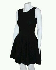 Alaia style  Brocade textured Black Sleeveless knit dress size Medium NWT #ebay #Cocktail