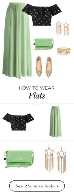 """outfit 4277"" by natalyag on Polyvore featuring Chicwish, River Island, Rebecca Taylor and ANS"
