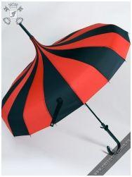 Carousel umbrella black-red