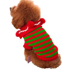 Pet ClothesHaoricu Winter Warm Christmas Sweater Dog Coat chien Pet Clothes Clothing Small Puppy Custome Apparel XS Red -- You can find out more details at the link of the image.