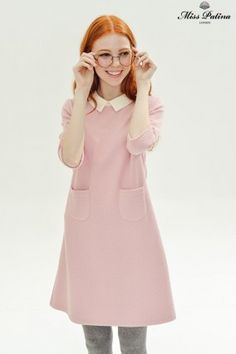 Wallflower Dress (Pink) - Miss Patina - Vintage Inspired Fashion Pink Fashion, Fashion Outfits, Womens Fashion, Vintage Inspired Fashion, Vintage Fashion, Dress Skirt, Dress Up, Peter Pan, Pretty Dresses