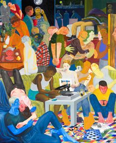 """Nicole Eisenman, """"Another Green World"""" oil on canvas, 128 x 106 inches (courtesy the artist and Anton Kern Gallery, New York; Painting Inspiration, Art Inspo, Another Green World, Appropriation Art, Contemporary Paintings, Love Art, Great Artists, Art Reference, Art Drawings"""
