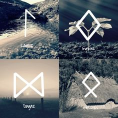 The Moon's Echo — Casting Runes Fehu: domestic cattle, wealth Viking Life, Viking Art, Viking Symbols, Norse Runes, Viking Runes, Norse Mythology, Tarot, Celtic Tattoos, Viking Tattoos