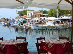 Lesbos-typical-greek-atmosphere Summer Breeze, Greece, Blue And White, Island, Table Decorations, World, Inspiration, Block Island, The World