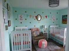 Rustic & vintage Chic Charm Nursery for Twins