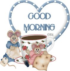 Little Mouse and Good Morning Gif Good Morning Gif Images, Cute Good Morning Quotes, Good Day Quotes, Morning Pictures, Good Morning Winter, Morning Morning, Good Morning Coffee, Happy Morning, Morning Wishes For Her