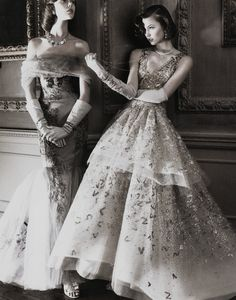 gethecool:    Frida Gustavsson and Karlie Kloss for Vogue US may 2010 by David Sims.