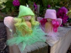 Fairies in the garden. Peg Dolls from Pantomime https://www.facebook.com/pantomimecrafts