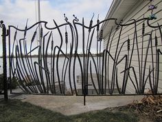 cat tails --love  the wavy top to the fence-- Gate by Mark Puigmarti                                                                                                                                                                                 More