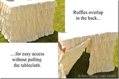 would love to make this for the folding table and use at parties :)