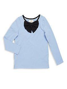 Kate Spade New York Girl's Toddler's Cotton Blend Bow Top - Blue - Siz