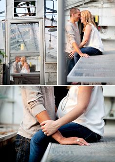 Love that this just looks like an engagement shoot...yet, she's preggers :)