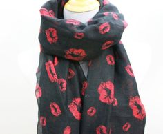 Hey, I found this really awesome Etsy listing at http://www.etsy.com/listing/123352204/red-lip-scarf-plum-red-and-black-full