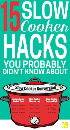 Slow cooker and crockpot meals are the best — literally set those healthy chicken, beef, and casserole dishes and forget it. But before you try another recipe, make sure you use your crockpot to the fullest with these easy tips and hacks. Crock Pot Food, Crock Pot Slow Cooker, Crock Pots, Slow Cooker Meals, Slow Cooker Times, Slower Cooker, Heathy Slow Cooker Recipes, Alow Cooker Recipes, Healthy Recipes