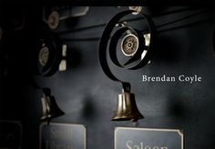downton abbey wall color and brass bells