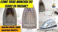 COMO TIRAR MANCHAS DO FERRO DE PASSAR - UTILIZANDO COISAS QUE VOCÊ TEM E... https://www.youtube.com/watch?v=3wPm7nvXI5M