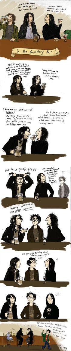 Sirius Black and Severus Snape