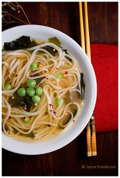 Easy Miso Udon Soup (Plus a few other soup and stew recipes) #soup #comfort #lunch