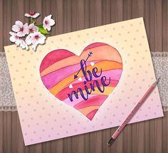 Valentines Day Digital Card Valentines Day Printable Greeting