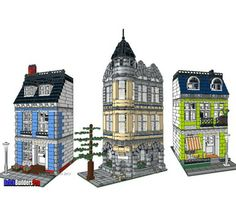 The Old Corner Square - Brickbuilderspro Store:  Buy plans for these!