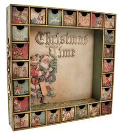 Advent calendar  I am attempting to make this!!!  Got the boxes, paper,glue etc.  Just have to get busy!!!