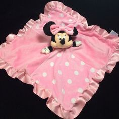 Disney Minnie Mouse Pink Polka Dot Security Baby Blanket Lovey Kids Preferred #KidsPreferred