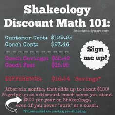 Can I sign up as a Beachbody coach just for the discount?  Yes you can!  This post explains how...
