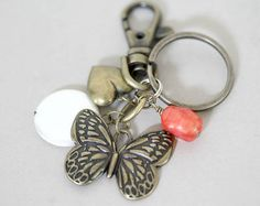 Robin Keyring Robins Appear Quote Winter Gift Snowflake Key Ring Bag Charm