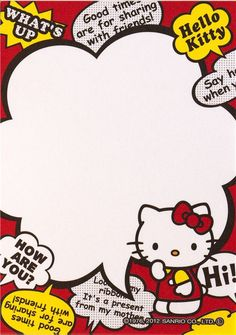 Kawaii memo paper - Sanrio - Hello Kitty (500×711) Envelopes, Hello Kitty Characters, Decoration Stickers, Decoupage, Hello Kitty Pictures, Cute Letters, Cute Frames, Hello Kitty Collection, Hello Kitty Wallpaper