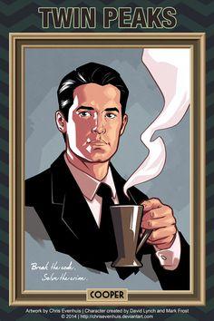 Chris Evenhuis portrait series - Dale Cooper