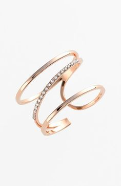 kismet by milka 'Lumiere' Diamond Open Ring on shopstyle.com