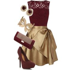 """Maroon and Gold: Minnesota fancy"" by allij28 on Polyvore"