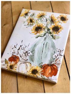 Fall Canvas Painting, Autumn Painting, Autumn Art, Diy Painting, Canvas Art, Outdoor Painting, Fall Paintings, Cotton Painting, Canvas Paper