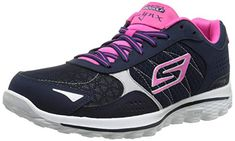 Skechers Performance Women's Go Golf 2 Lynx Golf Shoe, Navy/Hot Pink, M US. Soft fabric lining. Resagrip spikeless outsole for traction. Nike Womens Golf, Womens Golf Shoes, Adidas Shoes Women, Nike Shoes, Shoes Skechers, Ladies Golf, Women Golf, Skechers Performance, Lynx