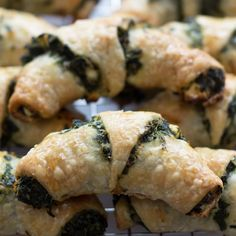 St. Patrick's Day Spinach and Feta Rugelach via @motherwouldknow