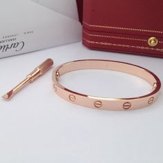 Cartier love bracelet Rose gold someday! I have always loved and wished for this timeless gem