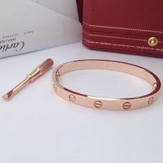 Cartier love bracelet Rose gold someday! I have always loved and wished for this timeless gem