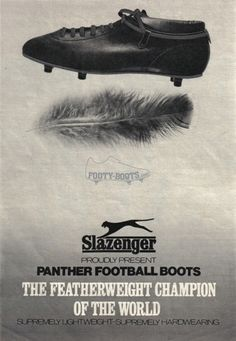 Slazenger Panther football boot from Soccer Boots, Football Boots, Soccer Cleats, Panthers Football, Football Soccer, Football Players, Football Presents, Football Cards, Champions Of The World