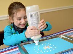 Puffy Snowflake Paintings via Inner Child Fun