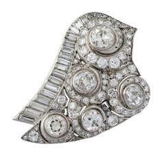 SUZANNE BELPERRON. A Diamond Brooch.  France  1930s