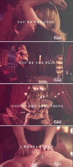So love me like you do… #arrow Oliver And Felicity, Felicity Smoak, Arrow Tv Series, Thea Queen, Team Arrow, Emily Bett Rickards, Supergirl And Flash, Dc Legends Of Tomorrow, Flash Arrow