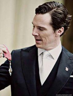 How happy he is receiving the CBE ♥