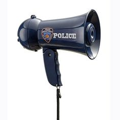 Pretend Play Police Officer's Megaphone Siren Sound For Kids Dress Up By America