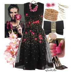 """""""Rosey Posey"""" by sparklemar on Polyvore"""
