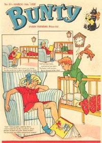 The Bunty comic. I got this comic for many years. I do remember though, feeling too old for it and that it was a bit babyish for me, then I probably went onto Smash Hits or something!