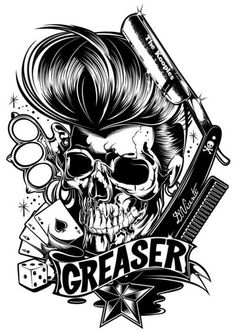 Greaser. Everything associated with the culture in one. use within a font?